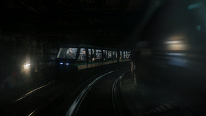 Paris train moving toward end of tunnel