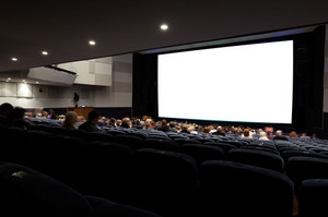 Cinema auditorium with people