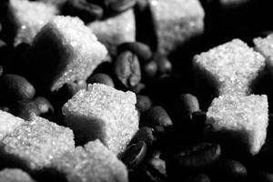 Coffee beans bw