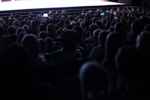 People seated in an audience