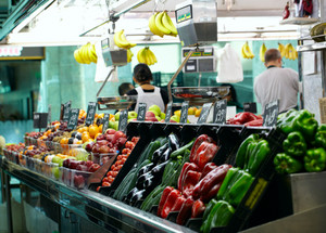 Fruits market la boqueria in barcelona