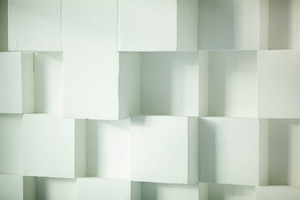 Modern wall made of cubes