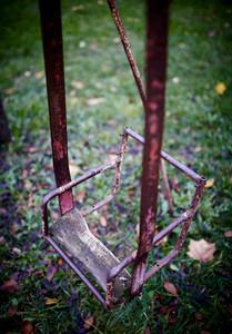 The broken child's swing.