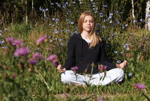 Lotus yoga pose
