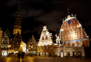 Old riga at night