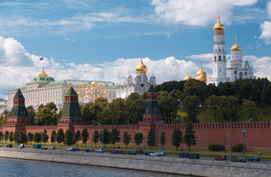 Moscow kremlin and waterfront