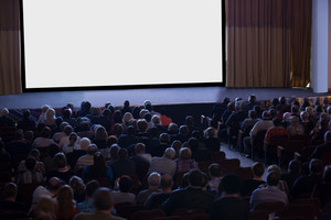 Audience watching cinema