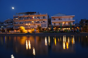 Summer resort at night