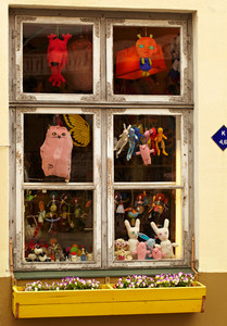 Window of the toy shop
