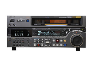 Digital betacam recorder isolated