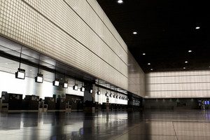 Empty airport hall