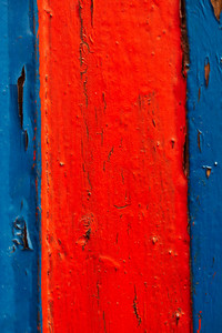 Blue and red wooden board lumber