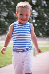 Portrait of smiling happy boy