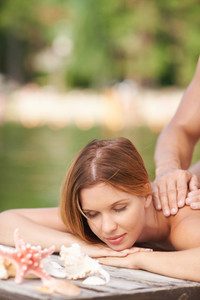 Massage At Summer Resort
