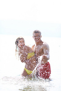 Man Splashing At His Woman