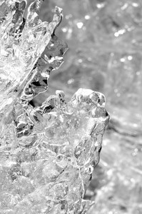 Transparent Ice Structure Close-up