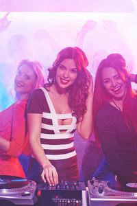 Cool Girl By Deejay Equipment And Company Of Friends Near By