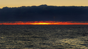 Dramatic Sunset Over The Baltic Sea