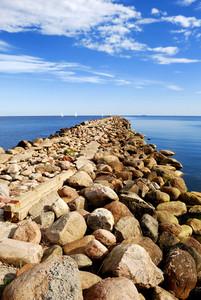 Baltic Sea Shore Near The Port Of Riga