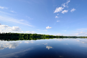 Daugava River With Reflection