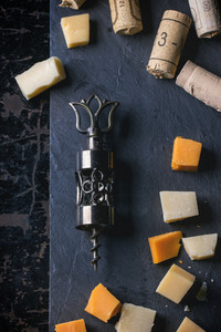 Corkscrew,  Cork And Cheese