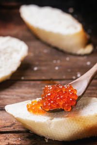 Bread With Red Caviar