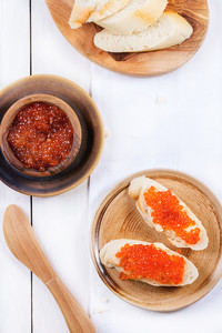 Sandwich With Red Caviar