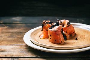 Salted Salmon And Black Caviar