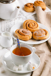Breakfast With Cinnamon Buns
