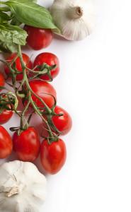 Fresh Tomatoes And Garlic