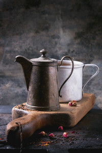 Teapot And Mug Of Tea