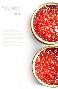 Tow Tins Of Red Caviar