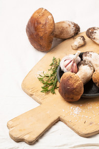 Cep Mushrooms With Garlic