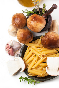 Cep Mushrooms With Pasta Penne