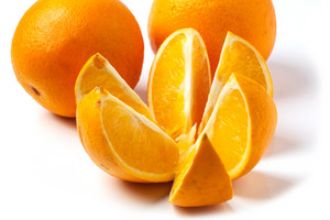 Oranges Over White