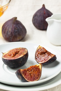 Plate Of Fresh Figs