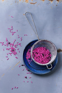 Pink And Black Rice