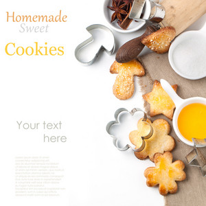Sugar Cookies With Honey And Sesame