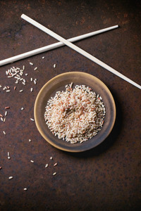 Brown Rice With Chopsticks