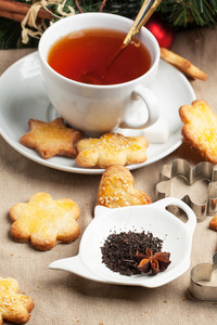 Sugar Cookies With Black Tea