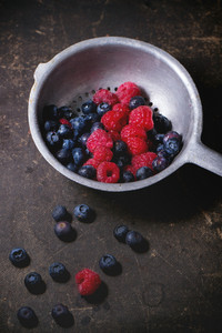 Colander With Fresh Berries