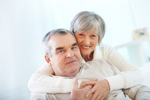 Happy Portrait Of Senior Couple