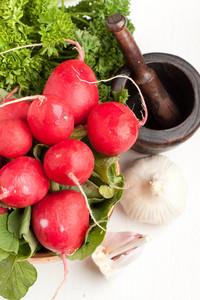 Fresh Radishes With Garlic