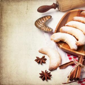 Sugar Cookies Over Vintage Background
