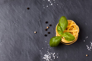 Dry Pasta With Basil