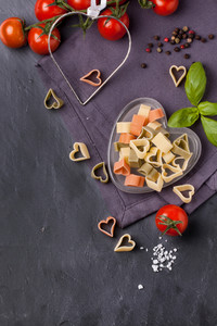 Dry Pasta As Hearts