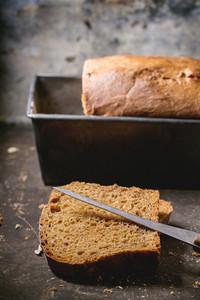 Loaf Of Homemade Rye Bread