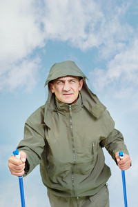 Portrait Of Mature Man In Jacket On Trip