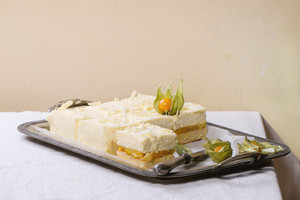 Cake With Tropical Fruits