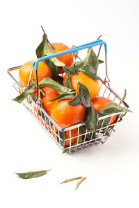 Food Basket Of Tangerines